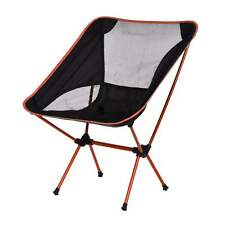 Folding Seat Stool Fishing Camping Hiking Gardening Beach Backpack Chair Orange