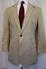 NWOT Brooks Brothers 1818 Regent Khaki Crespi Cotton Sport Coat 40R MSRP $448