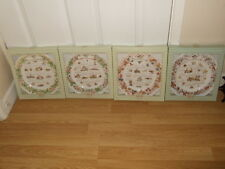 ROYAL DOULTON BRAMBLY HEDGE CALENDER PLATES ~ COMPLETE SET OF 4 ~ 1st QUALITY