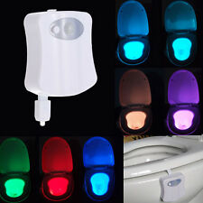 8 Colors LED Toilet Nightlight Motion Activated Sensitive Dusk To Dawn Lamp