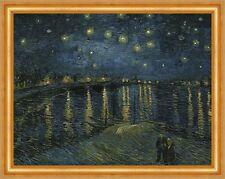 Sternennacht über der Rhone Starry Night Vincent van Gogh Arles Boot B A3 03318