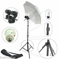 Kit Professionale DynaSun MM245 Stativo Ombrello Portalampada Doppio 2 Flash 90W