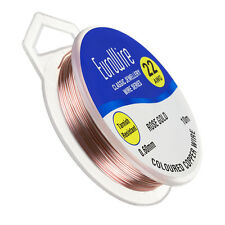 0.6mm Copper Craft Wire Rose Gold (22 Gauge) - Sold as a 10 Metre Reel (J16/3)