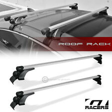 "UNIVERSAL 50"" SILVER SQUARE WINDOW FRAME ROOF RAIL RACK CROSS BARS CARRIER G11"