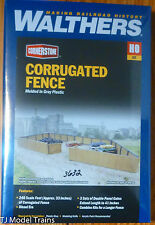 Walthers Cornerstone HO #933-3632 Corrugated Fence -- Kit - 240 Scale Feet