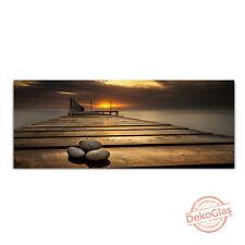 Glasbilder Echtglas Brücke Steine Wandbild 125x50cm Float