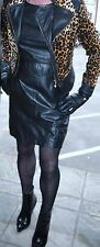 FANTASTIC AND EXTREMELY SEXY SUPER SOFT BLACK LEATHER  DRESS MISTRESS DOMINA 14