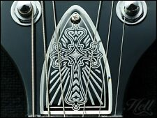 """""""CROSS"""" 100% Brass Diecast Truss Rod Cover. Fits most PRS style (US models)."""