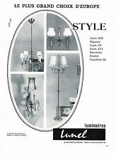 PUBLICITE   advertising 1966   LUNEL  luminaires