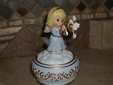 PRECIOUS MOMENTS-TRUMPETING ANGEL-MUSICAL-NEW