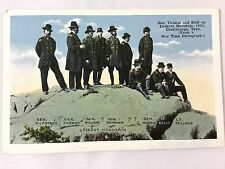 Early 1900s Gen. Thomas and Staff on Lookout Mt in 1863 Chattanooga, TN postcard