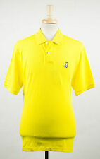 New. PSYCHO BUNNY By Robert Godley Yellow Cotton Casual Polo Shirt 9/3XL $85
