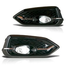 14-15 HONDA CIVIC COUPE 2DR BUMPER FOG LIGHTS LAMPS KIT CLEAR W/ SWITCH HARNESS