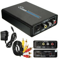 1080P HDMI To 3RCA AV CVBS Composite S-Video R/L Audio Converter Adapter Adaptor