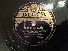 "CARMEN CAVALLARO (piano) ""Chopin's Polonaise""/""For Love Of You"" 78rpm 10"" EXC"