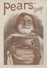 """""""PEARS' SOAP"""" Annonce originale entoilée 1889 Typo-litho 31x42cm"""