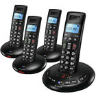 BT GRAPHITE 2500 QUAD DIGITAL CORDLESS HOME TELEPHONE WITH ANSWER MACHINE