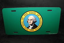 WASHINGTON STATE FLAG METAL LICENSE PLATE TAG FOR CARS