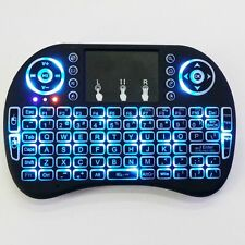 2.4G Backlit Wireless Keyboard Touchpad Rechargeable for Smart TV Box Android PC