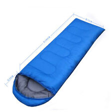 Waterproof Winter blue Single Sleeping Bag Envelope Outdoor Camping Hiking
