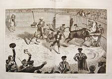1875 BRAVO TORO! A REMINISCENCE OF SAN ROQUE BULLFIGHTERS HORSES