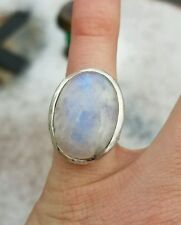 925 VINTAGE STERLING SILVER RING WITH GIANT MOONSTONE