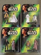LOT OF 4 KENNER 1997 STAR WARS POWER OF THE FORCE PRINCESS LEIA ACTION FIGURES