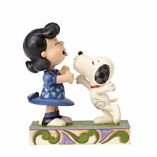 Jim Shore Peanuts Snoopy & Lucy Agh Ive Been Kissed By a Dog 4055941