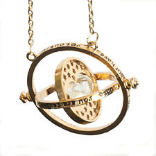 Harry Potter Gold Tone Hourglass Necklace Pendant Hermione Granger Time Turner