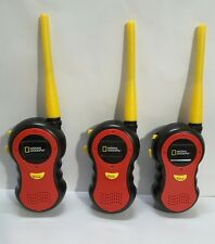 National Geographic Children Toy Walkie Talkies Exploration 3 Red Push To Talk