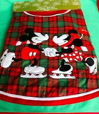 "DISNEY PARKS TREE SKIRT MICKEY MINNIE RED GREEN 50"" CHRISTMAS TREE SKIRT NEW"