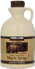 CANADIAN PURE MAPLE SYRUP 1 LITRE BY KIRKLAND SIGNATURE- USE ON TOAST,PANCAKES.