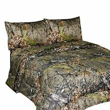 King Size Natural THE WOODS Premium Microfiber CAMO Sheet Set New Realtree NEW