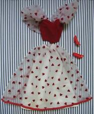 1983 Barbie Loving You Heart Skirt set Dress Red Pumps~Valentine's Day Clothes