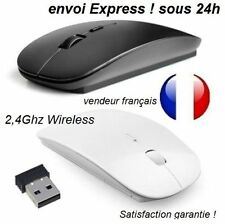 souris sans fil fine Mince 2.4 GHz wireless usb PC Portable Mac iOs Android 2017
