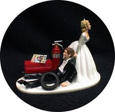 Car AUTO MECHANIC Wedding Cake Topper Bride Dragging Groom Tool Funny tools