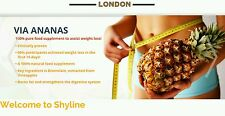 3 X VIA ANANAS: Slimming Tablets, Fat Burning and Weight Loss.Diet Supplement.