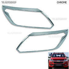 Chrome Front Head Lamp Lights Cover Fit Chevrolet Colorado Duramax Lt Truck 2017
