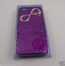 for Iphone 5  phone case Pink glitter infinity love  Claires fits i phone 5
