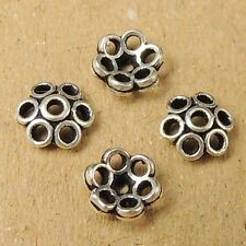 8 PCS 925 Sterling Silver Bead Caps Vintage Flower 5mm Jewelry Making WSP035X8