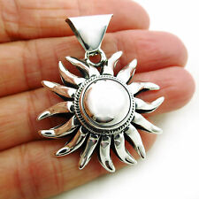 Sun Burst 925 Sterling Taxco Silver Pendant UK Hallmarked
