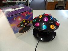 DISCO UFO SPACE SHIP ~ ROTATING COLOR LIGHTS REVOLVING VTG PARTY BALL MUSHROOM