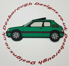 Peugeot 205 gti fridge magnets , Laser Green Griffe