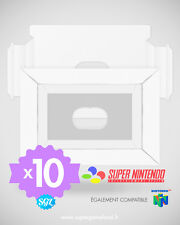 10 CALES TRAY INSERT INLAY NEUVES POUR BOITES SUPER NINTENDO SNES