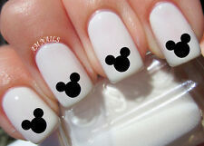 Mickey Mouse Ears Nail Art Stickers Transfers Decals Set of 36