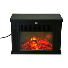 HOMCOM Electric 1000W Fireplace Fire Flame Stove Heater Portable Home Glass View