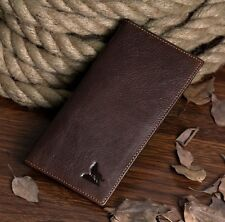Men Vintage Genuine Leather Long Bifold Wallet Money Card Holder Clutch Purse