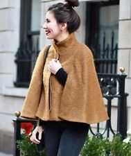 ZARA CAMEL MOHAIR WOOL CAPE PONCHO COAT Sz-M $169 EASY FIT BLOGGERS FAV!