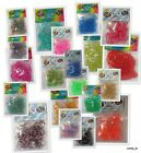 Rainbow Loom LOOM BANDS BANDZ Silicone Rubber *Glitter* CHOOSE Metallic Tie Dye