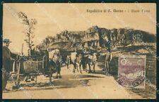 Rimini Repubblica San Marino Monte Titano Buoi cartolina VK1504